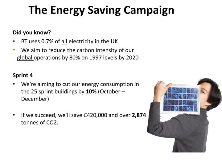 The Energy Saving Campaign