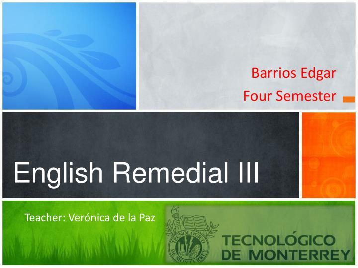 english remedial iii n.