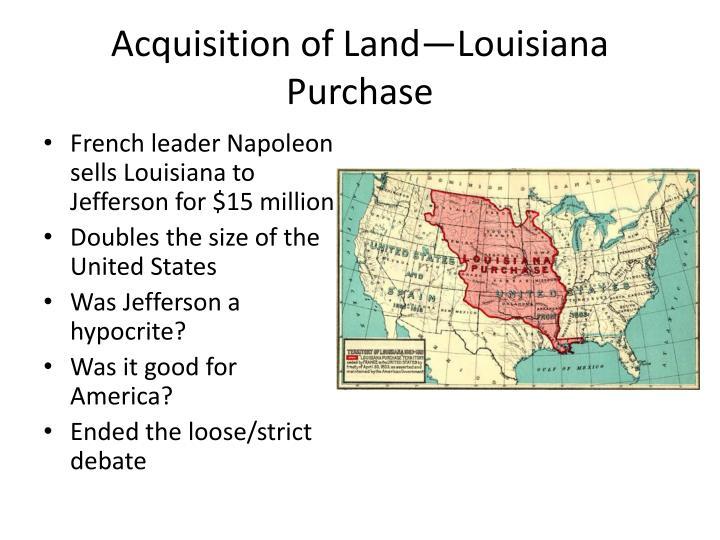 Acquisition of Land—Louisiana Purchase