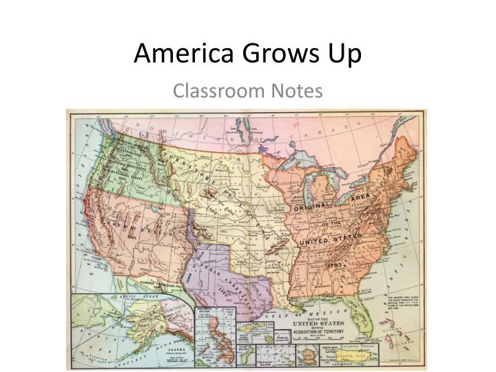 America grows up