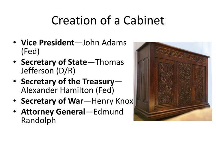 Creation of a cabinet