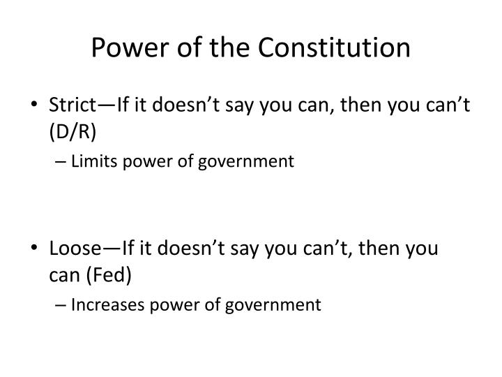 Power of the Constitution