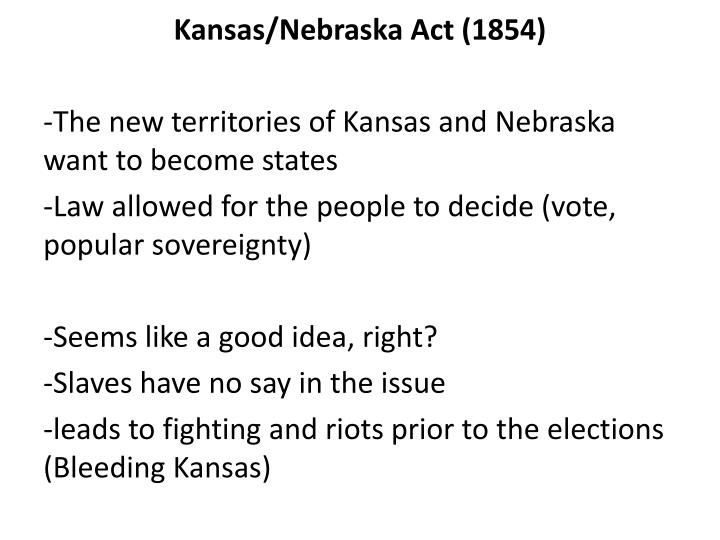 Kansas/Nebraska Act (1854