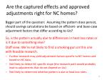 are the captured effects and approved adjustments right for nc homes5