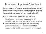 summary sup heat question 1