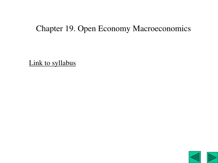 chapter 19 open economy macroeconomics n.