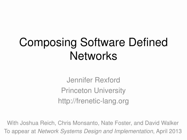 composing software defined networks n.