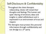 self disclosure confidentiality