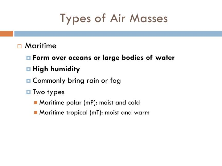 Types of air masses1