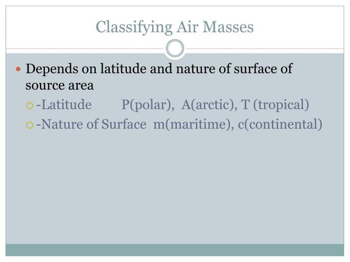 Classifying Air Masses