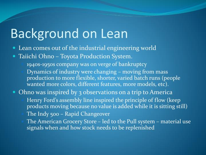 Background on Lean