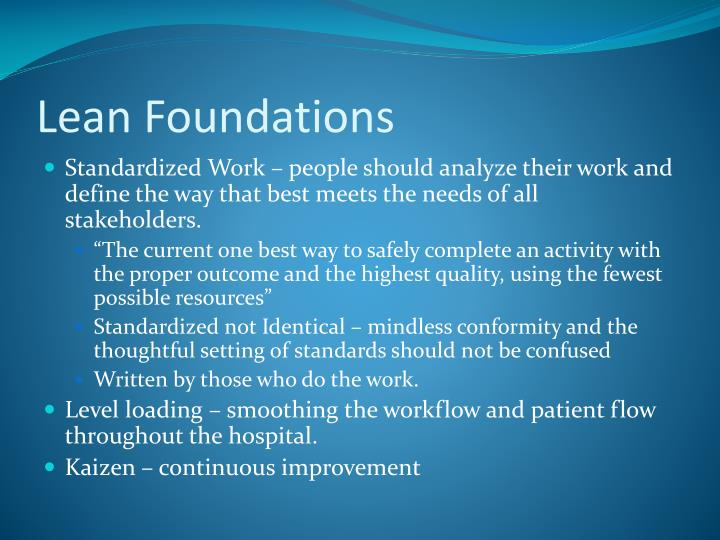 Lean Foundations
