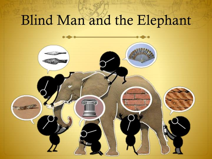 Blind man and the elephant