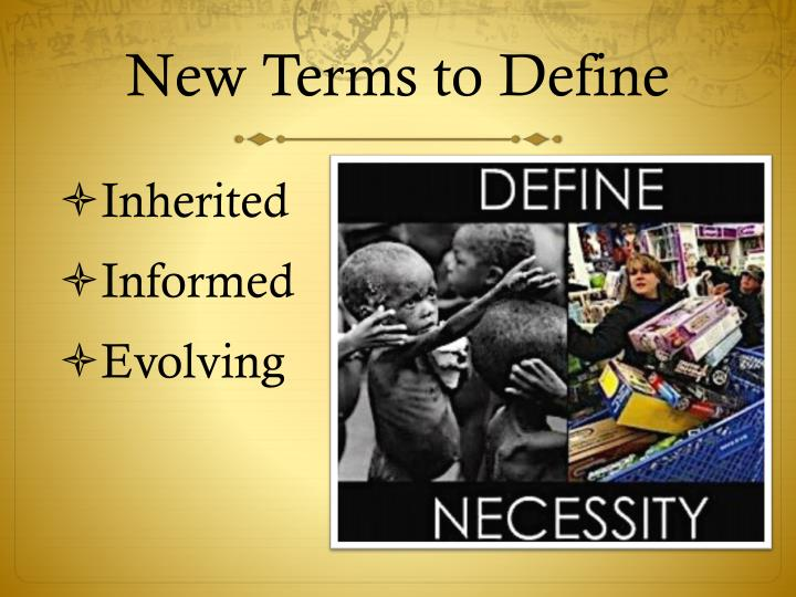 New Terms to Define