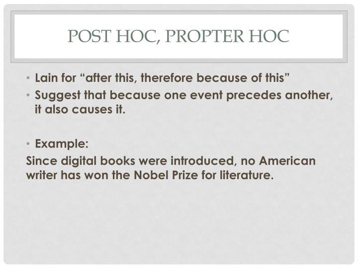 Post hoc, propter hoc