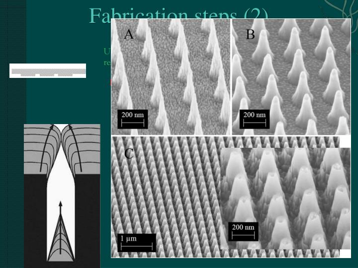 Fabrication steps (2)