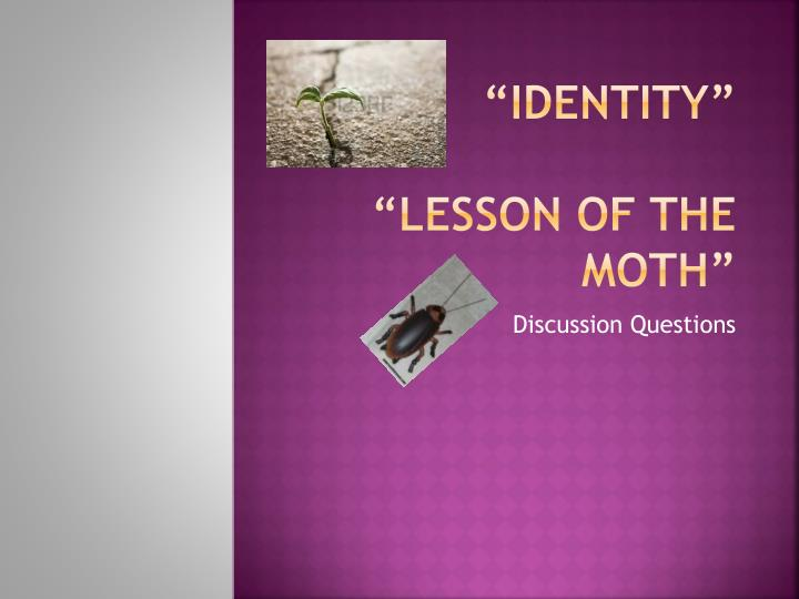 lesson of the moth Before reading the lesson of the moth poem by don marquis identity poem by julio noboa what is our standard of beauty a recent study found that people.