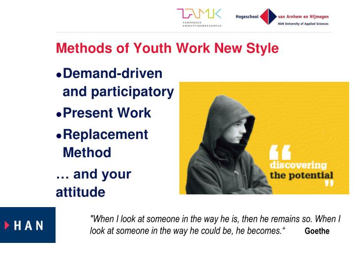 Methods of Youth Work New Style