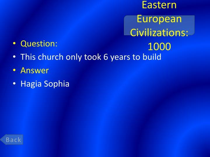 Eastern European Civilizations: 1000