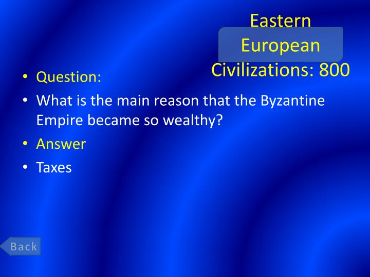 Eastern European Civilizations: 800