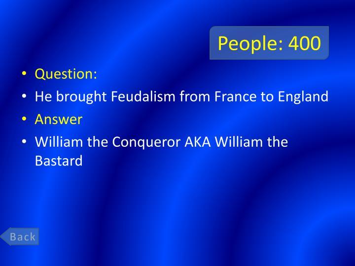 People: 400