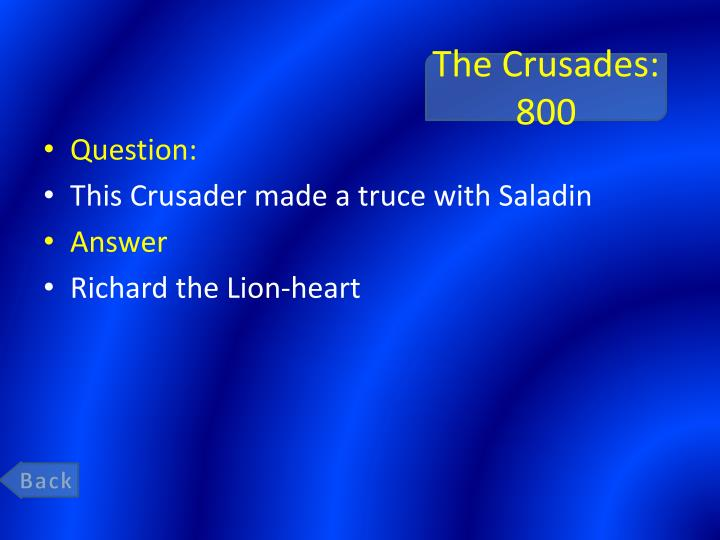 The Crusades: 800