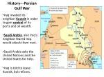 history persian gulf war