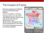 the invasion of france