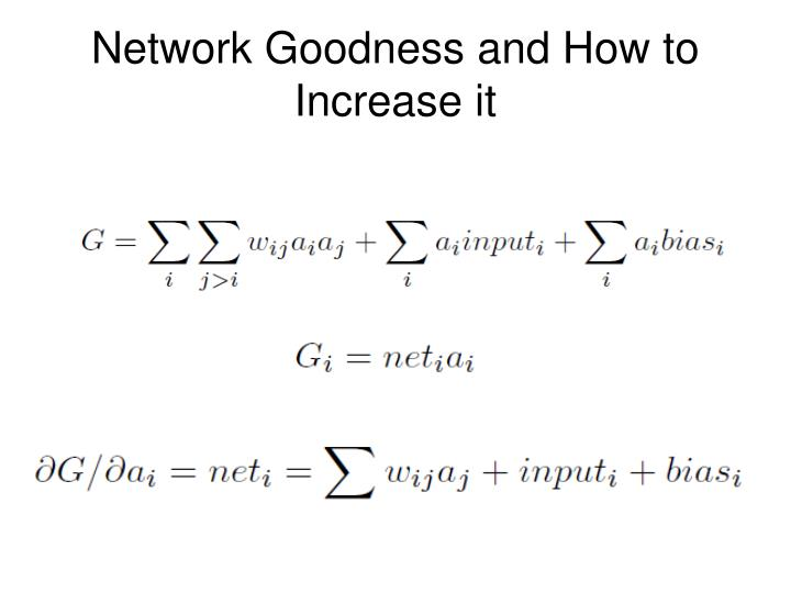 Network goodness and how to increase it
