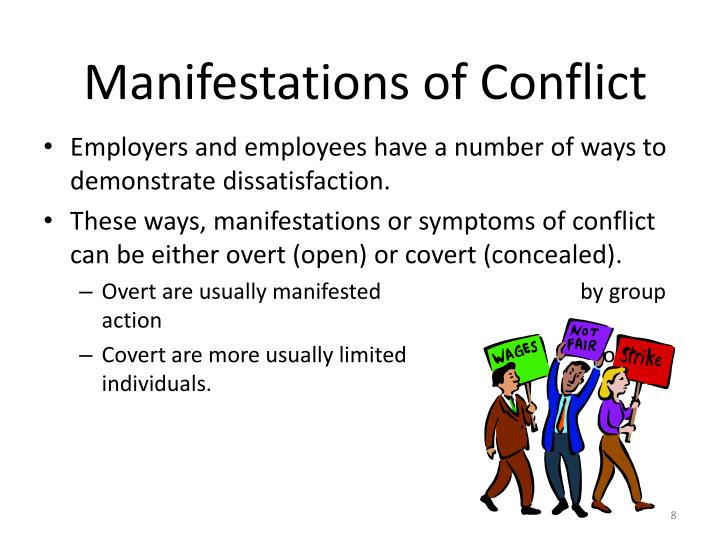 Manifestations of Conflict