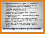 bad management hurts your business