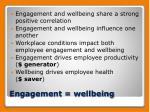 engagement wellbeing
