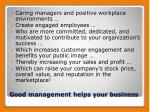 good management helps your business