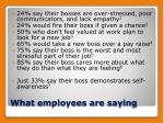 what employees are saying