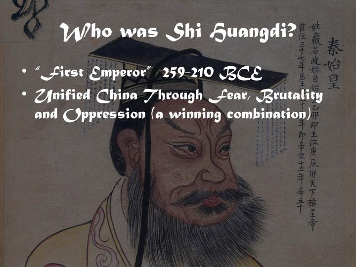 Who was shi huangdi