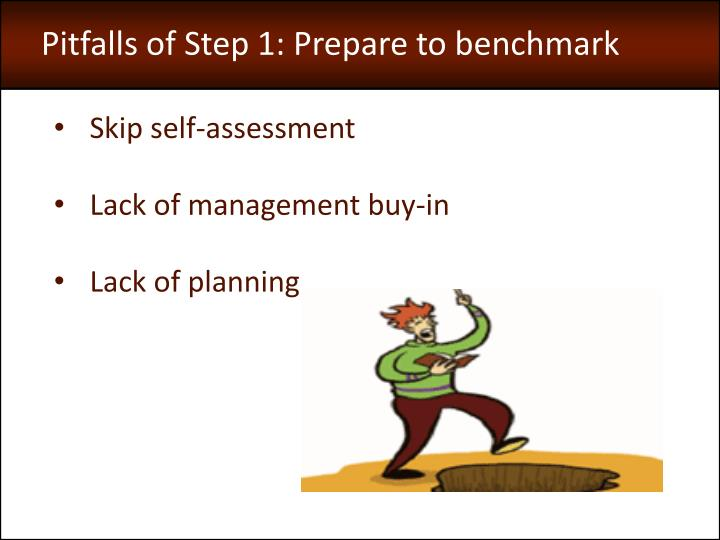Pitfalls of Step 1: Prepare to benchmark