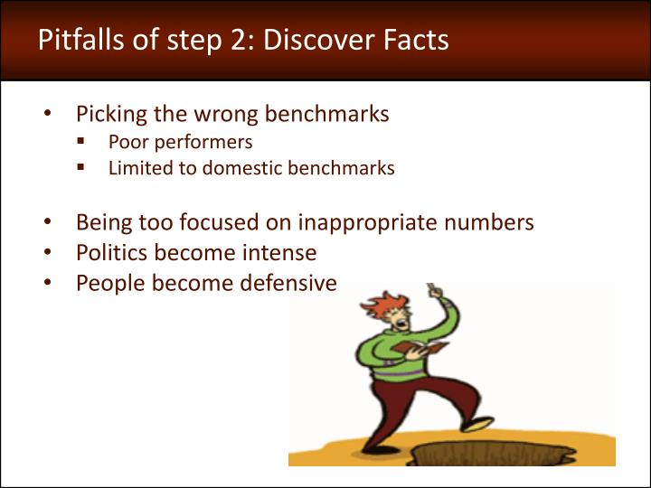 Pitfalls of step 2: Discover Facts