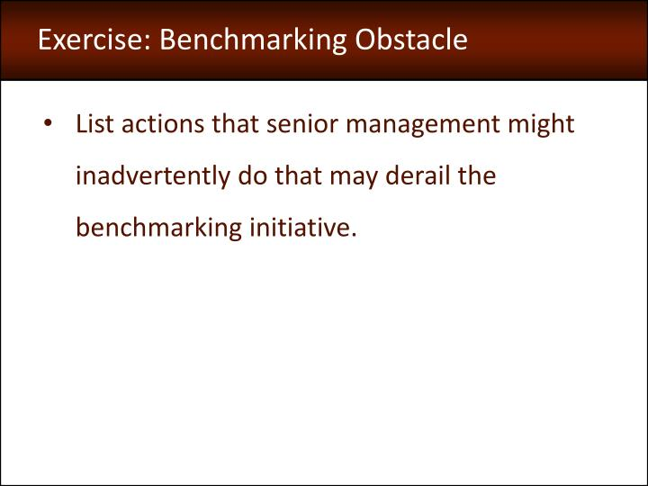 Exercise: Benchmarking Obstacle