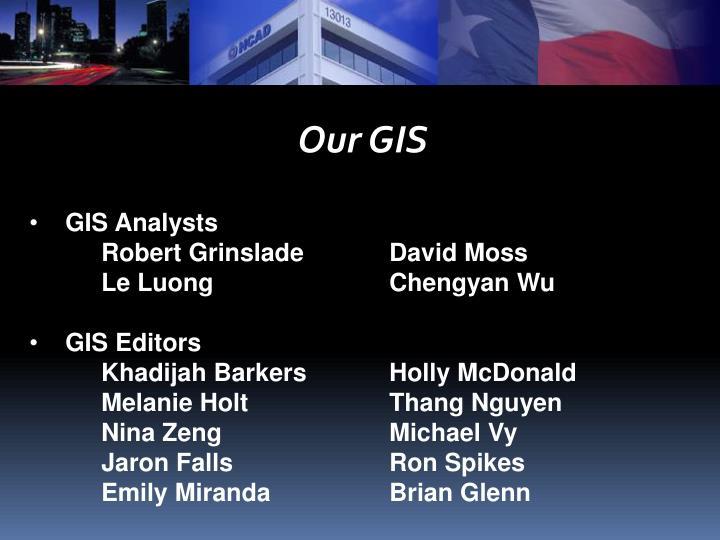 Our GIS