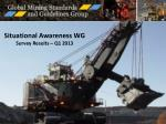 situational awareness wg survey results q1 2013