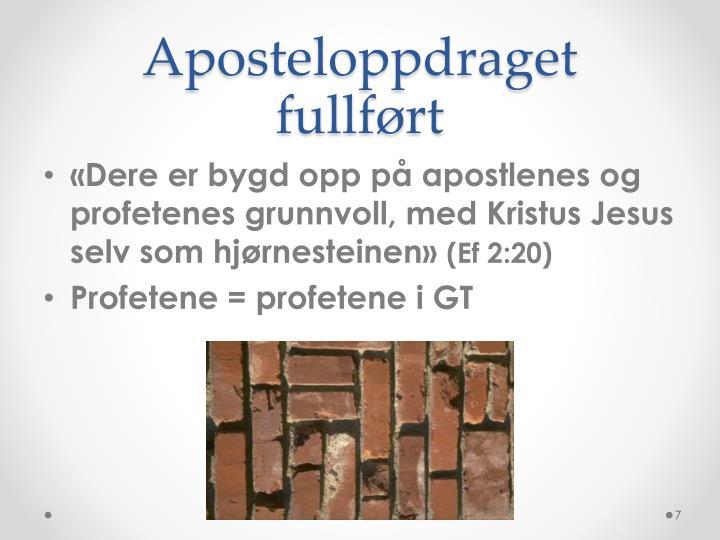 Aposteloppdraget