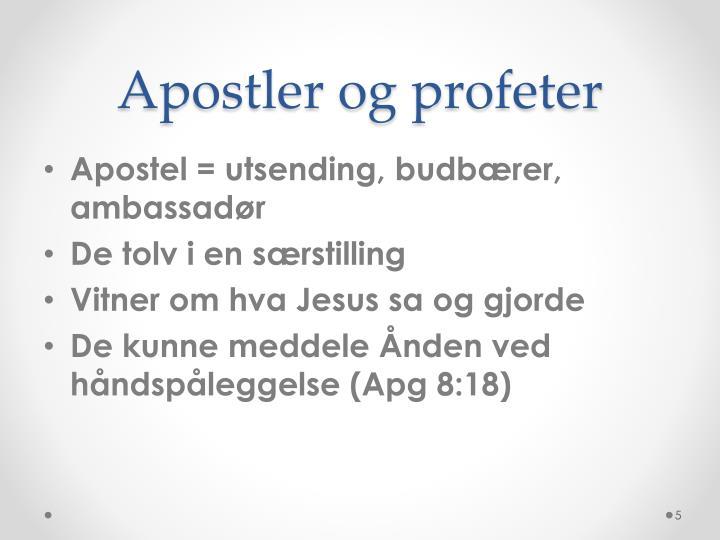 Apostler og profeter