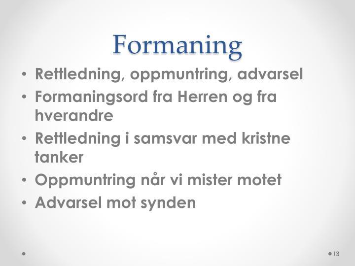 Formaning