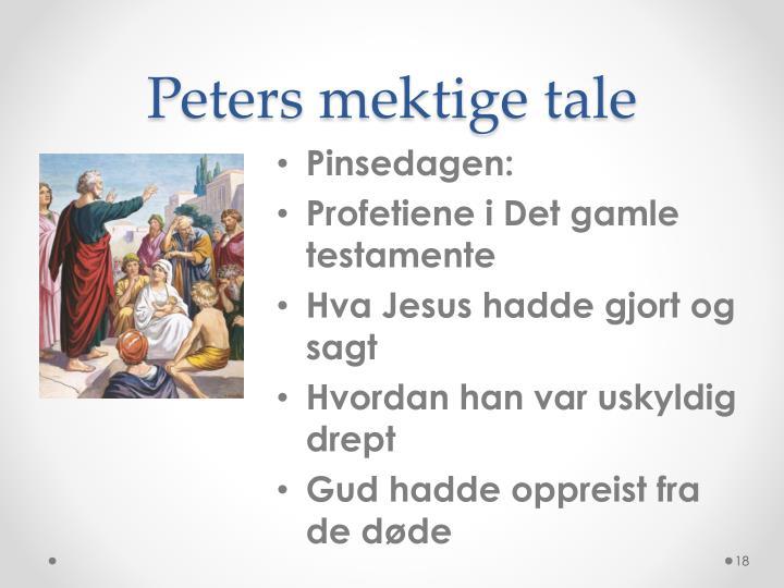 Peters mektige tale