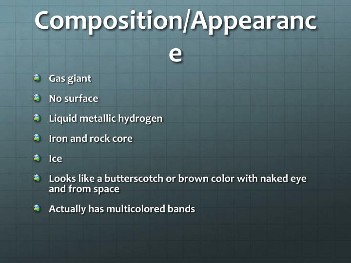 Composition/Appearance