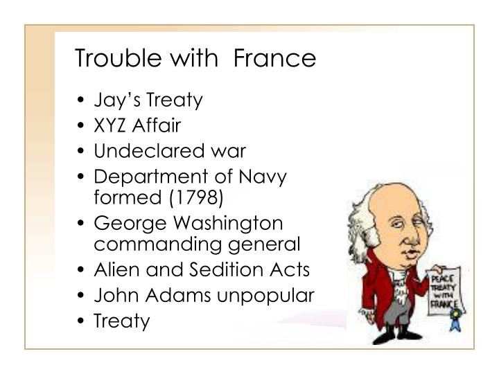 Trouble with  France