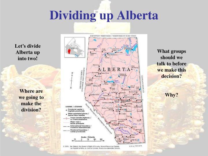 Dividing up Alberta