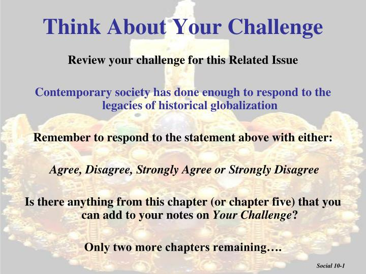 Think About Your Challenge