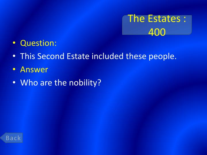 The Estates : 400