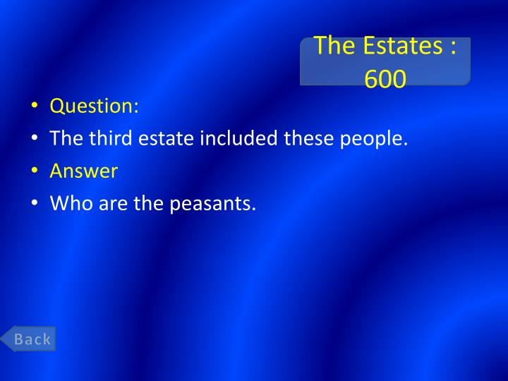 The Estates : 600